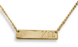 Chi Omega Sorority Bar Necklace