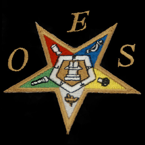 Order of the Eastern Star Emblem- 2 7/8 Inches