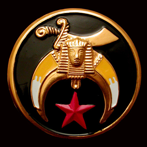Shriner Car Emblem-Black