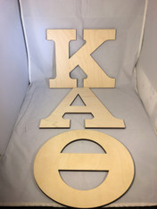Kappa Alpha Theta Sorority Wood Letter