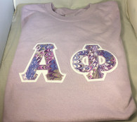 Shirt Inspiration – Light Purple Double Stitched Letter Shirt