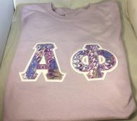 Shirt Inspiration – Light Purple Double Stitched Letter Shirt