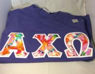 Shirt Inspiration- Sorority Double Stitched Shirt- Tie-Dye- Comfort Colors-Purple