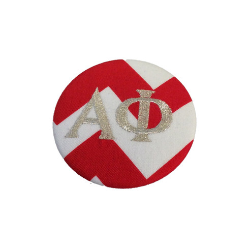 Fabric Button Inspiration- Red and White Chevron