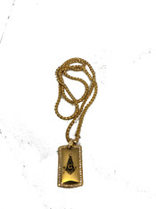 Mason Masonic Stainless Steel Pendant- Gold