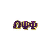 Omega Psi Phi Fraternity Connected Letter Set- Purple