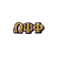Omega Psi Phi Fraternity Connected Letter Set- Gold