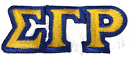 Sigma Gamma Rho Sorority Connected Letter Set-Gold