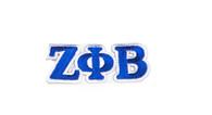 Zeta Phi Beta Sorority Connected Letter Set-Blue