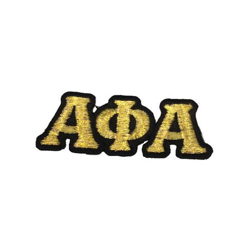 Alpha Phi Alpha Fraternity Connected Letter Set-Gold