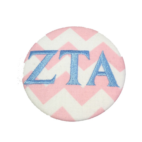 Fabric Button Inspiration- Pink and White Chevron