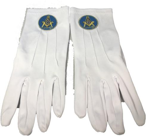International Masons White Gloves with Symbol