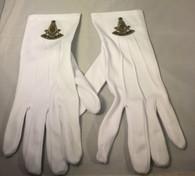 Mason Masonic Past Master White Gloves with Symbol