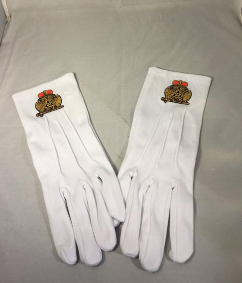 Mason Masonic 33rd Degree Gloves