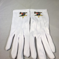Order of the Eastern Star OES Past Worthy Matron Symbol Gloves