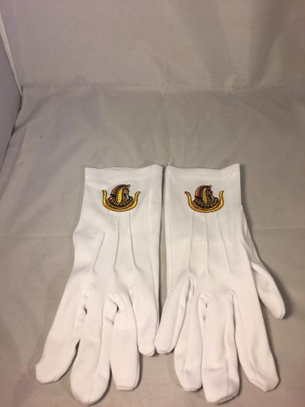 Order of the Eastern Star DOI Symbol Gloves
