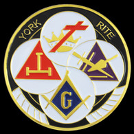 Mason Masonic York Rite Car Emblem