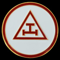 Mason Masonic Triple Tau Car Emblem