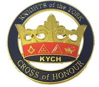 Mason Masonic Knights of the York Cut Out Car Emblem