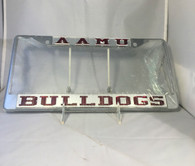 Alabama A&M AAMU Bulldogs Silver/Maroon License Plate Frame