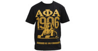Alpha Phi Alpha Fraternity Three Greek Letter with Founding Year Shirt