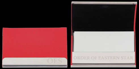 Order of the Eastern Star Business Card Holder-Red