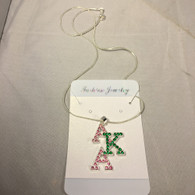 Alpha Kappa Alpha AKA Sorority Stacked Necklace