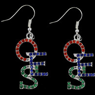 Order of the Eastern Star Stacked Earrings