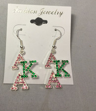 Alpha Kappa Alpha AKA Sorority Stacked Earrings