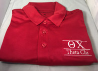 Theta Chi Fraternity Dri-Fit Polo-Red