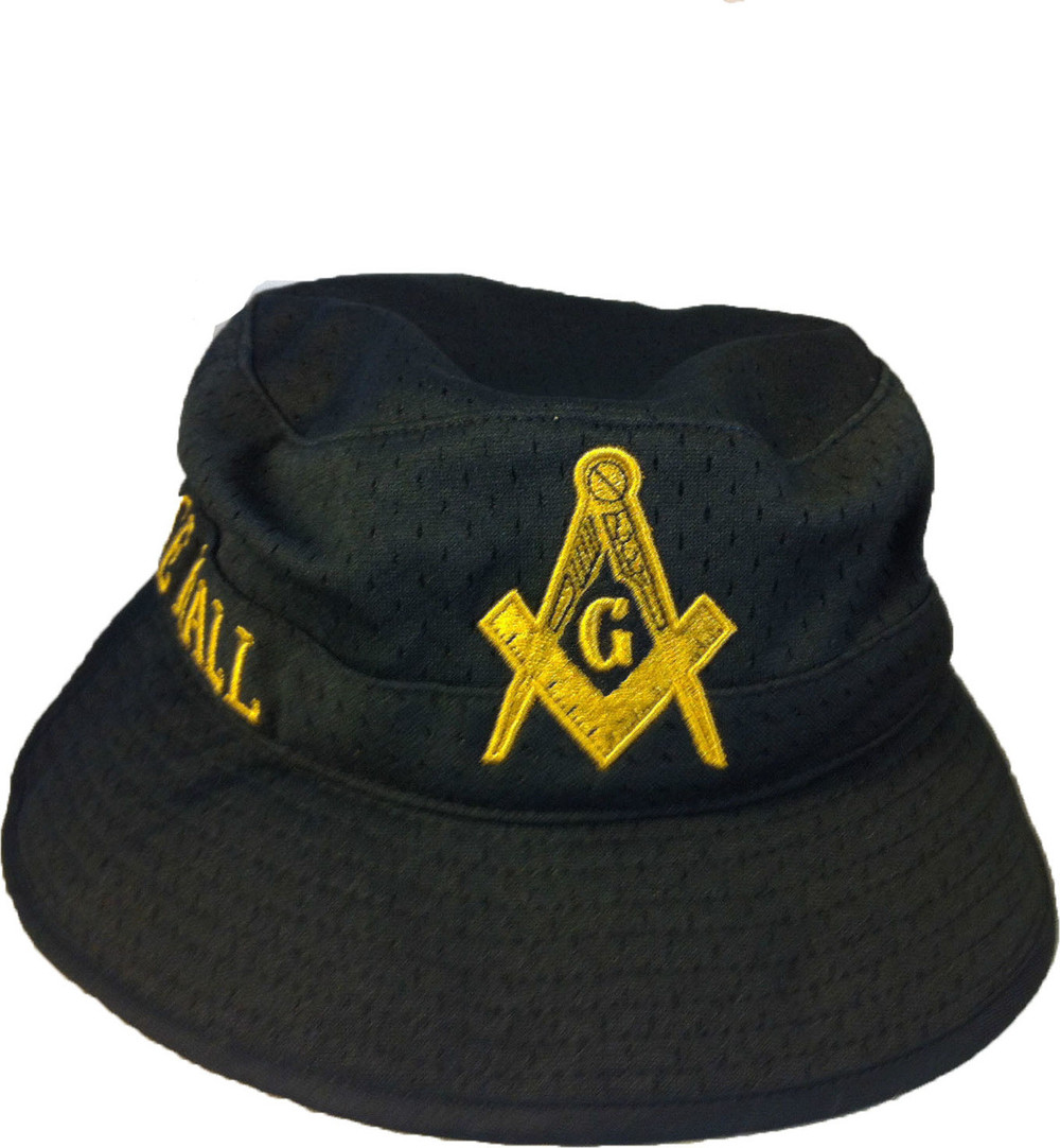 ef2bfcc694eb4 Prince Hall Mason Masonic Floppy Mesh Bucket Hat - Brothers and ...
