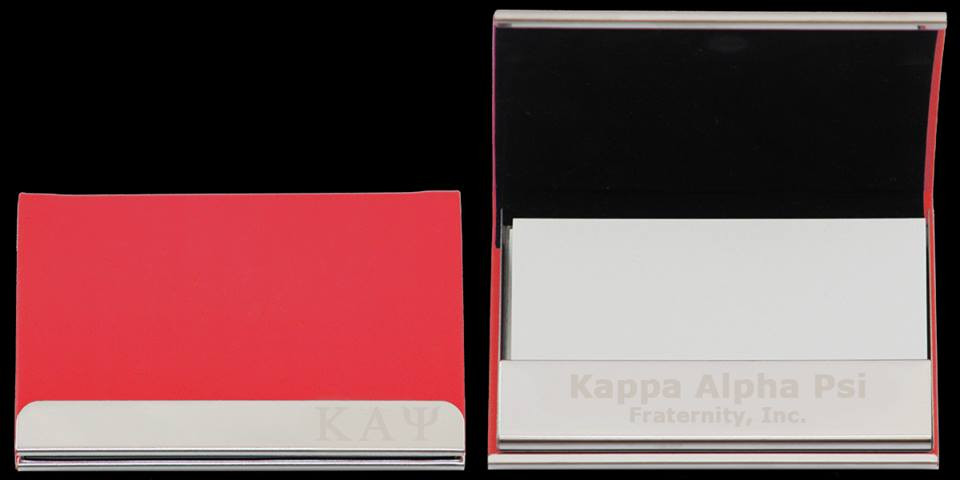 Kappa Alpha Psi Fraternity Business Card Holder Brothers And