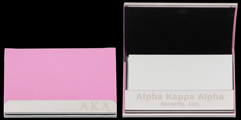 Alpha Kappa Alpha Aka Business Card Holder Pink Brothers And