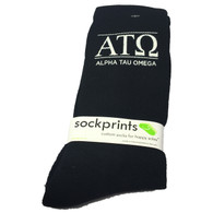 Alpha Tau Omega Fraternity Ribbed Crew Socks