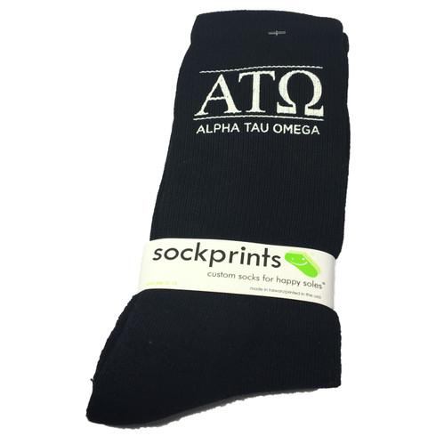 Alpha Tau Omega Fraternity Ribbed Crew Socks