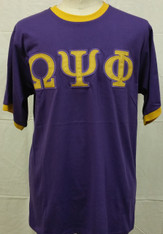 Omega Psi Phi Ringer T-shirt-Purple