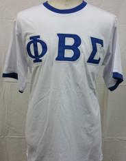 Phi Beta Sigma Fraternity Ringer T-shirt-White