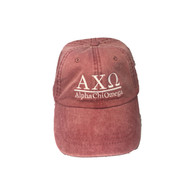 Alpha Chi Omega Sorority Hat- Nautical Red