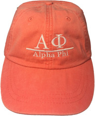 Alpha Phi Sorority Hat- Coral