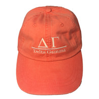 Delta Gamma Sorority Hat- Coral