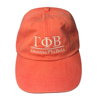 Gamma Phi Beta Sorority Hat- Coral