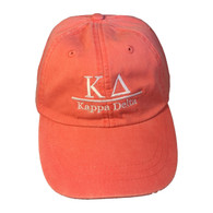 Kappa Delta Sorority Hat- Coral