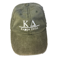Kappa Delta Sorority Hat- Olive