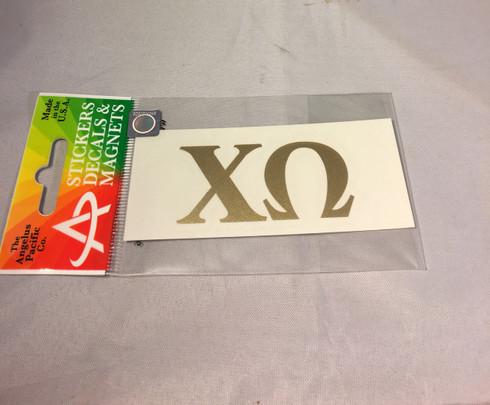 Chi Omega Sorority Metallic Gold Letters