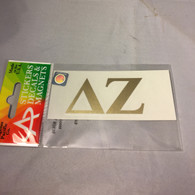Delta Zeta Sorority Metallic Gold Letters