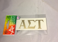Alpha Sigma Tau Sorority Metallic Gold Letters