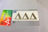 Delta Delta Delta Tri-Delta Sorority Metallic Gold Letters