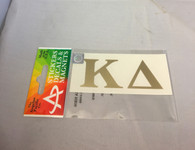 Kappa Delta Sorority Metallic Gold Letters