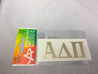 Alpha Delta Pi ADPI Sorority Metallic Gold Letters