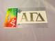 Alpha Gamma Delta Sorority Metallic Gold Letters
